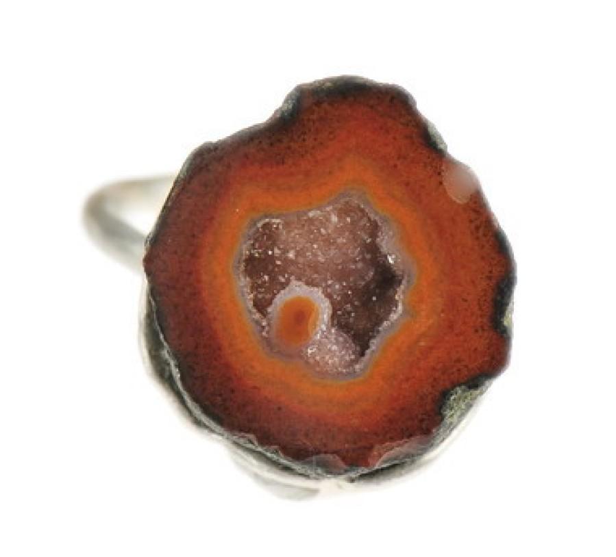 Pumpkin Geode Ring