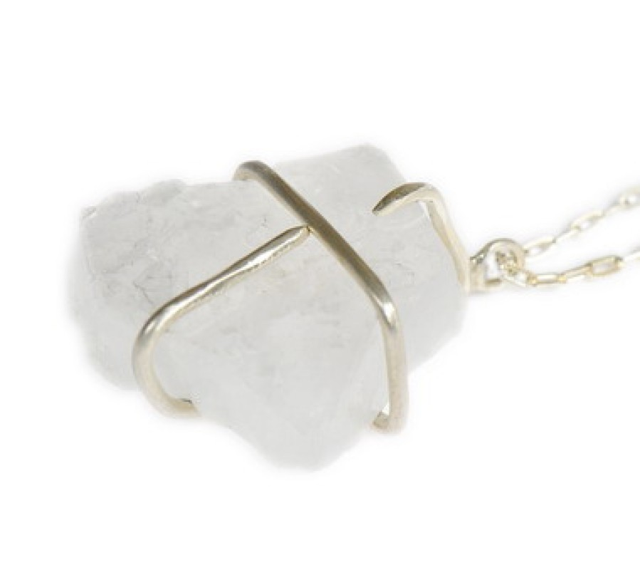 Raw Apophylite Clutch Necklace