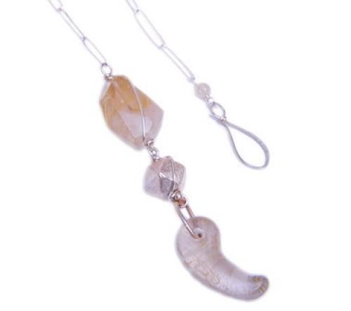 Rutilated Quartz Long Necklace