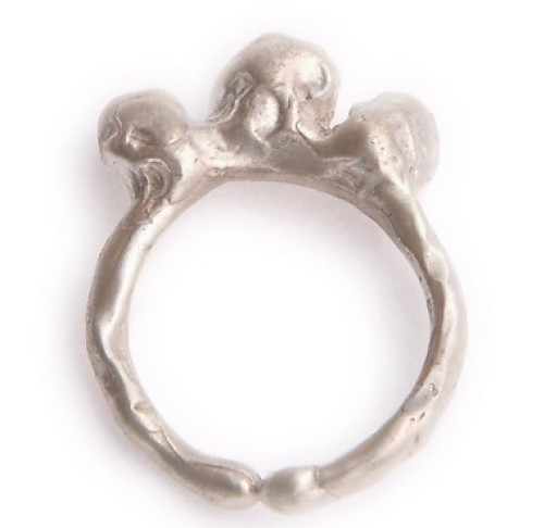 Sterling 3 Bump Ring