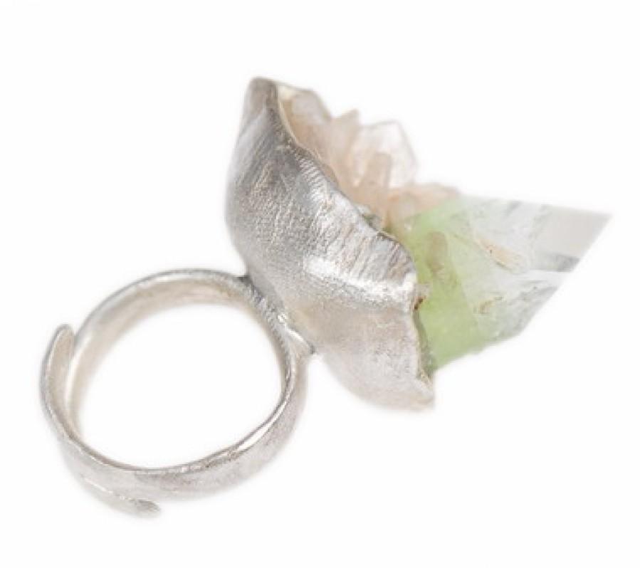 Tri-Colored Apophyllite Seascape Ring