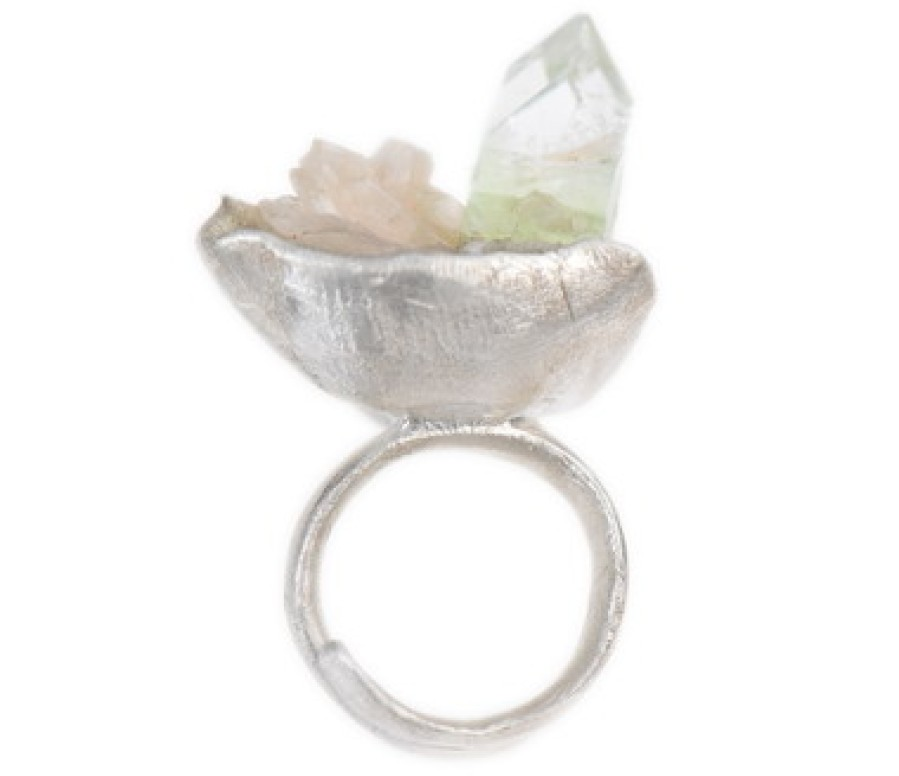 Tri-Colored Apophyllite Seascape Ring