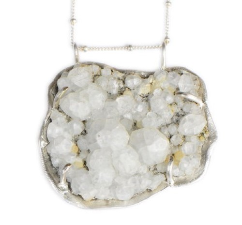 Zeolite Seascape Pendant Necklace